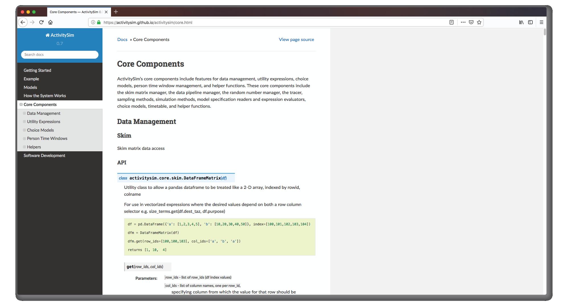 ActivitySim - Consolidated Travel Model Software Platform Development and Enhancement Screenshot