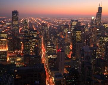 Aerial City at Night
