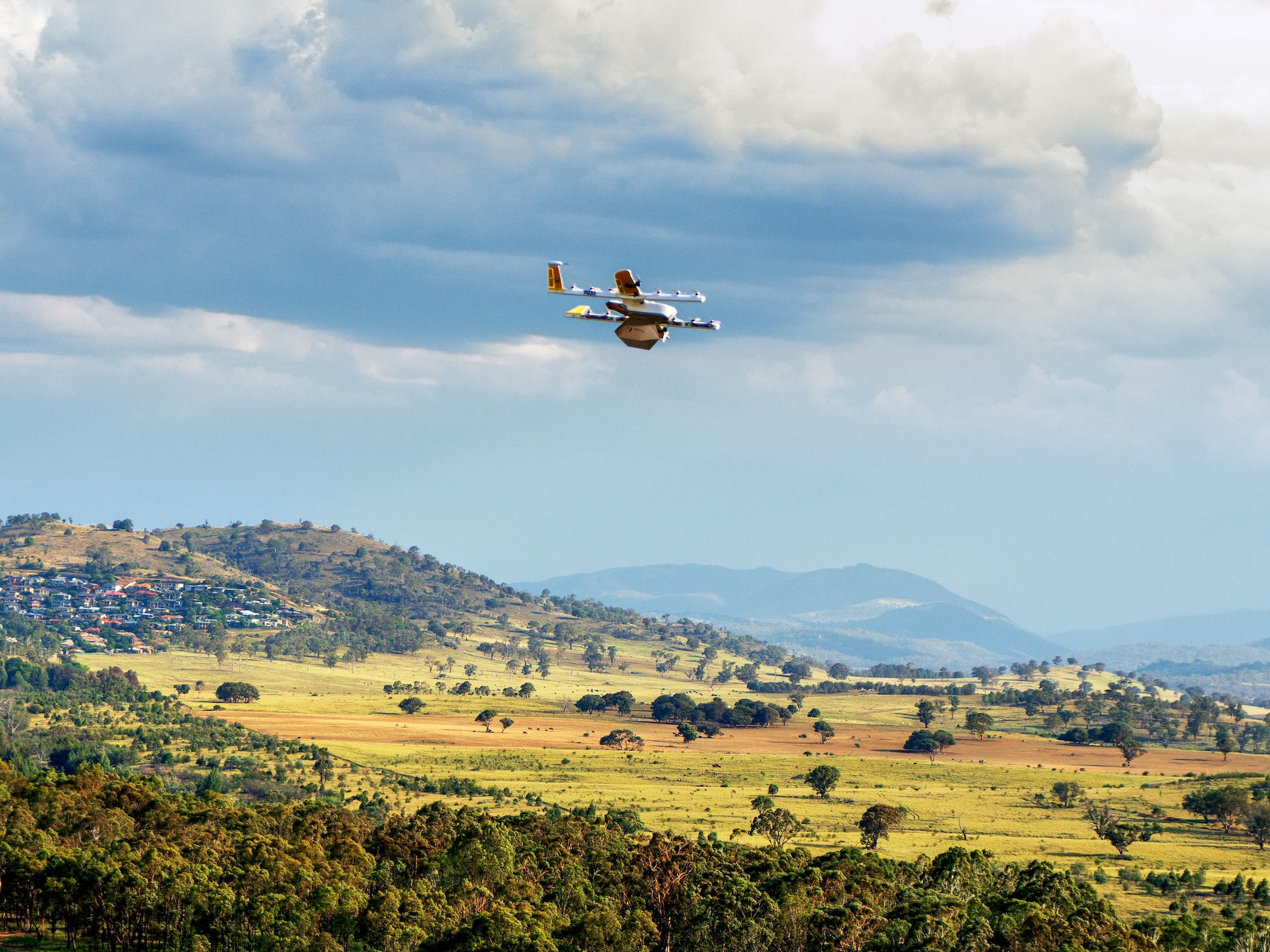 Wing Drone Operating in Australia